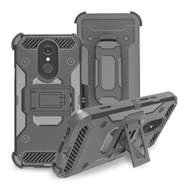 China Heavy Duty Armor Hard Case For LG Q7 plus Stylo 4 Alcatel 7 Phone Case + Belt Clip Holster Kickstand TPU+PC Shockproof suppliers