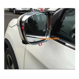 $enCountryForm.capitalKeyWord Australia - For Nissan X-Trail XTrail T32 Rogue 2017 2018 2019 car rear Rearview glass Mirror Rain Eyebrow Shield Sun Visor Shade abs chrome 2pcs