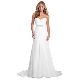 Wedding Dresses Plus Size Brides UK - Simple A Line Chiffon Bride Wedding Dresses robes de mariée Plus Size Wedding Dresses bridal gowns vestidos de novia