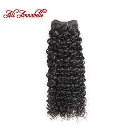 Wholesale ALI ANNABELLE HAIR Brazilian Kinky Curly Hair Human Weave Bundles Natural Color Remy Bundles