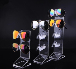 4cb34b20b0 Hot sale clear acrylic Sunglasses Glasses display stand Reading glasses  night vision holder bracelet jewelry display rack 4pcs lot