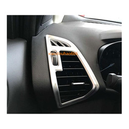 $enCountryForm.capitalKeyWord UK - car sticker body ABS Silver styling inner garnish trim front left right Air conditioning Outlet Vent 2pcs For Ford Kuga 2017 2018 2019