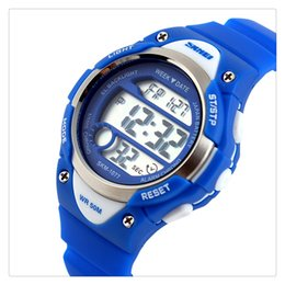 Wholesale Waterproof Wrist Dress Watch Outdoor Sports Children s With LED Digital Alarm Stopwatch Lightweight Silicone Blue Hot Sale