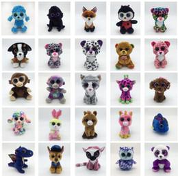 Ty Beanie Boos juguetes de peluche de felpa 15 cm Venta al por mayor Ojos grandes Animales Muñecas blandas para regalos de los niños Juguetes ty Ojos grandes de peluche KKA4108