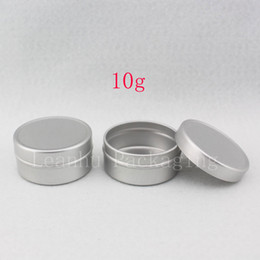 Packaging For Lipstick Australia - 10g X 200 empty round aluminum skin care cream jar , round metal container for cosmetics packaging ,10ml lipstick aluminum tin