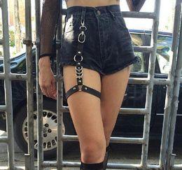 $enCountryForm.capitalKeyWord Australia - Sexy Women New fashion Harajuku Single Strap Clip Leather Punk Suspender Hook adjustable leg ring Handmade Sock Garter Unisex Wholesale