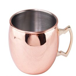 Discount pottery handmade - coffee beer tea mugs Authentic Hammered Copper Moscow Mule Mug Handmade of Copper Brass Handle Hammered Moscow Mule Mug