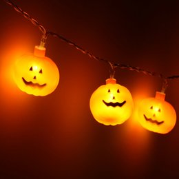 Discount mini pumpkin decoration - Pary holiday Pumpkin shape Lights Mini String Lights pumpkin Strip Battery Operated Starry lights For Christmas Wedding