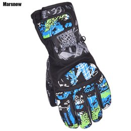 Wholesale Marsnow Ski gloves male warm winter new windproof snowboard sport outdoor motorcycle riding waterproof gloves for men