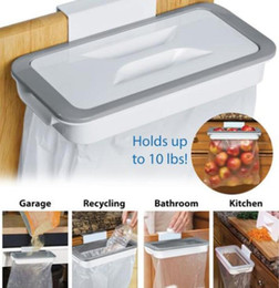 wholesale kitchens Australia - Kitchen Trash Bag Storage Rack Cupboard Kitchen Bathroom Hanging Holders Trash Toys Food Containers Kitchen Accessories Supplies