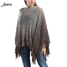 Shirt Poncho Australia - Women Cloak Autumn Spring Ladies Shirts Women Casual Poncho Female Long Sleeves Poncho Female Girls Tassel Decor Loose Cloak