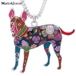 MarteJoven Unique Carolina Dog Gifts Jewelry For Women Birthday Personalized Pets Lover Collection Necklaces Pendants NZ617