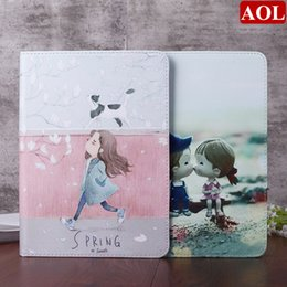 Wholesale Smart Wake Leather Case For new iPad air air2 pro9 mini Cute Girls Printed Stand Tablet Cover Gifts
