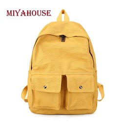 0c0a07434642 Miyahouse Candy Color Backpack For Women Sweet Style Simple Rucksack For  Female Canvas Material High Quality Backpack Women