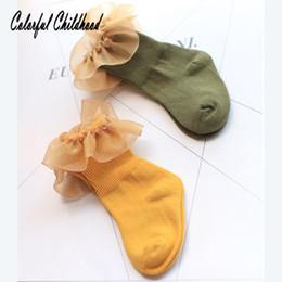 Discount toddler socks ruffles - Baby Socks ruffles Organza lace Design Socks For Girls Kids Children's Foot Wear cozy cotton toddler fall