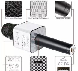 $enCountryForm.capitalKeyWord NZ - Magic Q9 Bluetooth Wireless Microphone Handheld Microfono KTV With Speaker Mic Loudspeaker Karaoke Q7 Upgrade For android phone good 2018