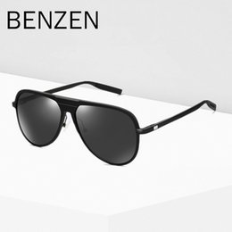 b280e5fc164 wholesale Classic Pilot Sunglasses Men HD Polarized Male Sun Glasses Al-Mg  Cool Driving Glasses Shades Black With Case 9310