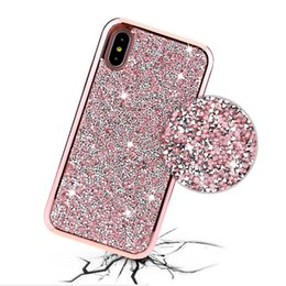$enCountryForm.capitalKeyWord Canada - For iPhone X 5 6 6s 7 7s 8 8s plus Luxury Diamond Rhinestone Glitter 2 in 1 Cell Phone Case