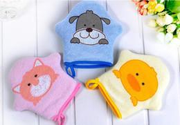 $enCountryForm.capitalKeyWord Australia - Cute Baby Bath Sponge Cartoon Super Soft Cotton Brush Rubbing Towel Ball 3 Types New Arrival Bath Gloves BTRQ0159