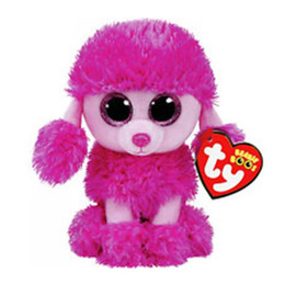"dogs toy poodle 2018 - Ty Beanie Boos Plush Animal Doll Patsy Dog Pink Poodle Soft Stuffed Toys With Tag 6"" 15cm cheap dogs toy poodle"
