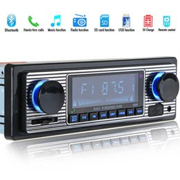 Discount 1gb car mp3 player - Bluetooth Vintage Car Radio MP3 Player Stereo USB AUX Classic Car Stereo Audio
