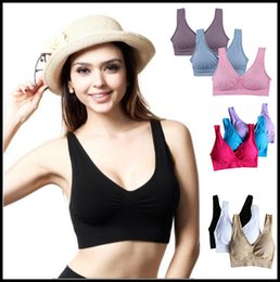 fef07ccb1e598 online shopping 9 Colors Soft Breathable Sports Bra Women Yoga Fitness  Stretch Workout Tank Top Seamless