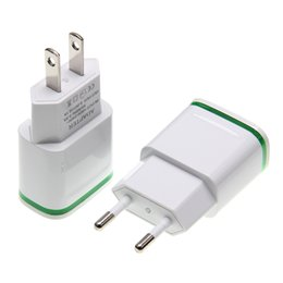 $enCountryForm.capitalKeyWord Australia - LED Light 2 Ports USB Charger Cable EU US Plug 5V 2A Mobile Phone Wall Adapter For iPhone 6 7 iPad Samsung Charging Device 300pcs lot