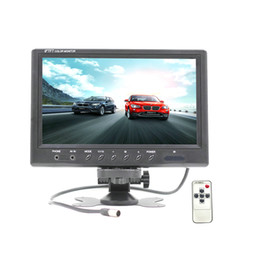 "ntsc dvd UK - DHL 5PCS 9"" TFT LCD Display Car Rear View Headrest Monitor For DVD Reversing Camera 800 x 480 With Remote Controller"