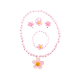 $enCountryForm.capitalKeyWord Australia - 2017 Candy Beads Resin Plastic Kids Jewelry Set For Children Cute Necklace Bracelet Ring Earrings Baby Jewelry Flower Pendants