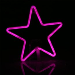 $enCountryForm.capitalKeyWord NZ - 4.5V LED Strip Star Night Light LED Neon Light Warm White Wall Decoration Lamp For Holiday Kids Baby Cute Night Lamp
