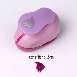 foam craft punches 2019 - 1.5cm-2.5cm fish craft punch paper punches scrapbooking puncher DIY handmade dolphin craft punch EVA foam hole shark dis