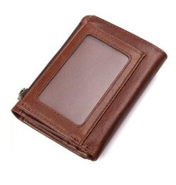 small pocket coin holder UK - Real Cowhide Leather Men Wallets Short Coin Purse Small Vintage Wallet Cowhide Leather Card Holder Pocket Purse Men Wallets
