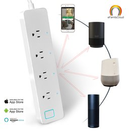 Wholesale Wifi Smart Power Strip With App Remote Voice Control US Plug Outlet Smart Socket Compatible With Alexa Echo Home Power Plugs