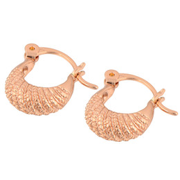$enCountryForm.capitalKeyWord Canada - Wholesale- GUSSIARRO Free Shipping Wholesale Vintage Rough Rose Gold-Color Hoop Women Earrings No Nickel
