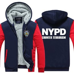 $enCountryForm.capitalKeyWord Canada - New York Police Winter Cashmere Hoodie Zipper Jacket Leisure Sweatshirts Thicken Cardigan Coat Long Sleeve Tracksuit Pullovers Tops