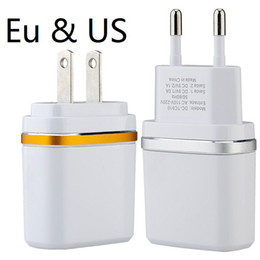phone wall port 2019 - Dual usb ports Eu Us With Ring 2.1A+1A Travel Ac home wall charger power adapter for ipad iphone 7 8 X samsung s7 s8 and