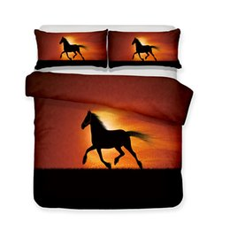 Horse Bedding Sets Twin UK - Animals Zebra and horses Design Bedding Set 2PC 3PC Cosmetics Duvet Cover Set Of Quilt Cover & Pillowcase Twin Full Queen King Size