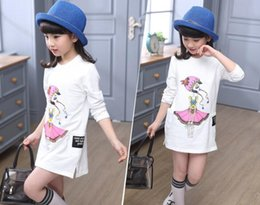winter dresses for teenagers 2020 - 5-13T girls Long T-shirt dress for Teenagers Girls School Clothing Wear Girls top T-shirt Character baby kids clothing d