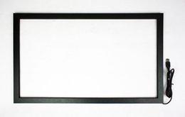 23,6-Zoll-IR-Touchscreen-Überlagerungskit mit zwei Punkten, Infrarot-Touch-Frame mit Glas für Kiosk im Angebot