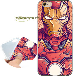 $enCountryForm.capitalKeyWord UK - Coque Comics Iron Man Cases for iPhone 10 X 7 8 6S 6 Plus 5S 5 SE 5C 4S 4 iPod Touch 6 5 Clear Soft TPU Silicone Cover.