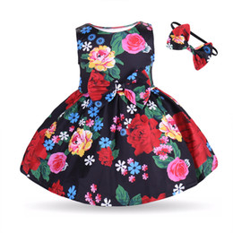 american princess dresses for girls UK - 2018 Mikrdoo Toddler baby girl Floral Dress love heart Princess Party Birthday Dress Skirt with Headband 2pcs Clothing For Age 0-3T