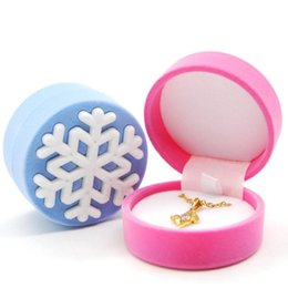 $enCountryForm.capitalKeyWord UK - Circle Jewelry Ring Gift Box Snowflake Velvet Children's Jewellery Rings Earrings Jewels Packaging Boxes Kids' Toy Nice Pink Blue Color