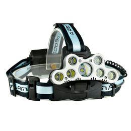 $enCountryForm.capitalKeyWord UK - super bright headlamp 9 CREE XML T6 LED headlight usb rechargeable head lamp 18650 high power led torch head flashlight