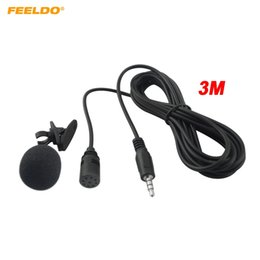 $enCountryForm.capitalKeyWord NZ - FEELDO 1PC Car GPS Microphone Kit Clip Mount For Car Interior Handsfree Calls With 3.5mm Jack and 3M Cable