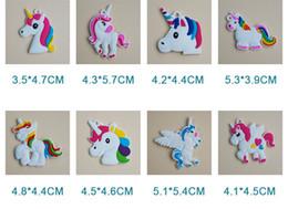 $enCountryForm.capitalKeyWord Canada - PVC Unicorn Toy Keychain Key Ring Chains Bag Hang Pendant Plastic Fashion Accessories Jewelry Toys for Women Kids