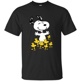 $enCountryForm.capitalKeyWord NZ - Mens Licensed Peanuts Snoopy Party With Chicks Party Shirt T-shirt Size short sleeve tshirt Tops High Quality Cotton Hip Hop Short Sleeve