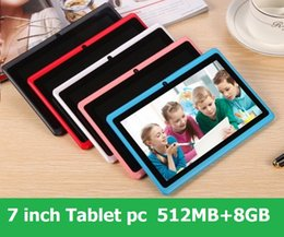 A33 Quad Core Tablet Australia - 7 inch Capacitive Allwinner A33 Quad Core Android 4.4 dual camera Tablet PC 8GB RAM 512MB ROM WiFi EPAD Youtube Facebook Google DHL