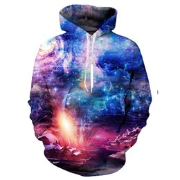 Men's Clothing 2018 Mens 3d Sweatshirts Printed A Person Watch The Space Meteor Shower Casual Stairs Ladder Hip Hop Harajuku Hoodies 5xl
