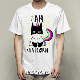 $enCountryForm.capitalKeyWord NZ - Batcorn t shirt Bat unicorn short sleeve gown Cool breathable tees Unisex clothing Quality modal Tshirt