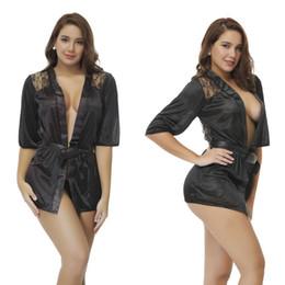 b5b8253744 Transparente intimates mulheres vestes feminino lace mulheres sexy sleepwear  roupões de banho primavera e verão conjuntos de lingerie